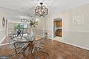 Formal Dining Room with Kitchen View - 1200 N NASH ST #240, ARLINGTON