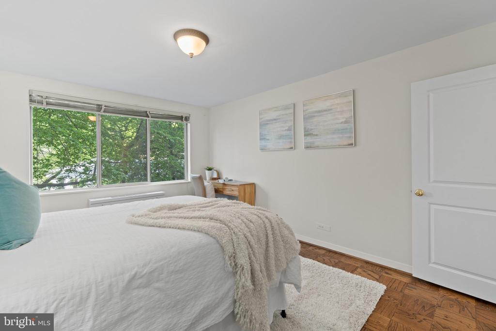 Second Bedroom overlooking front of building - 1200 N NASH ST #240, ARLINGTON