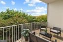 Private, oversized balcony - 1200 N NASH ST #240, ARLINGTON