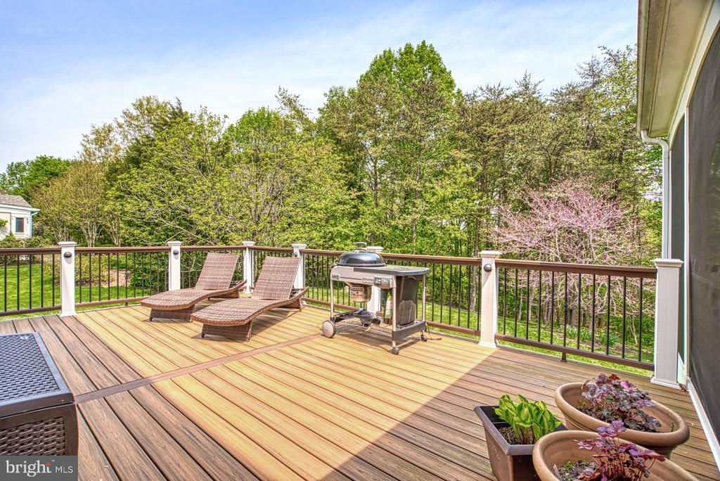 Screened Porch, Driveway & Laundry all access Deck - 1269 COBBLE POND WAY, VIENNA