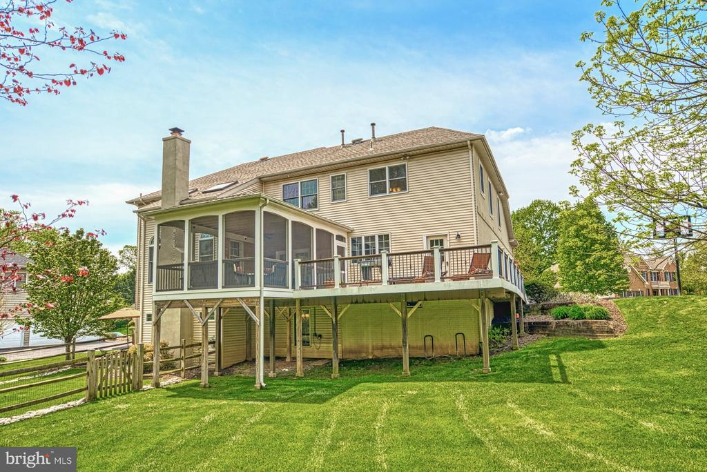 Large Yard features Fenced and Unfenced Areas - 1269 COBBLE POND WAY, VIENNA
