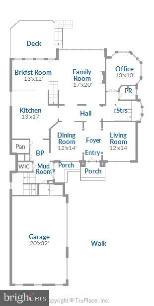 Main Level Floor Plan - 18349 MID OCEAN PL, LEESBURG