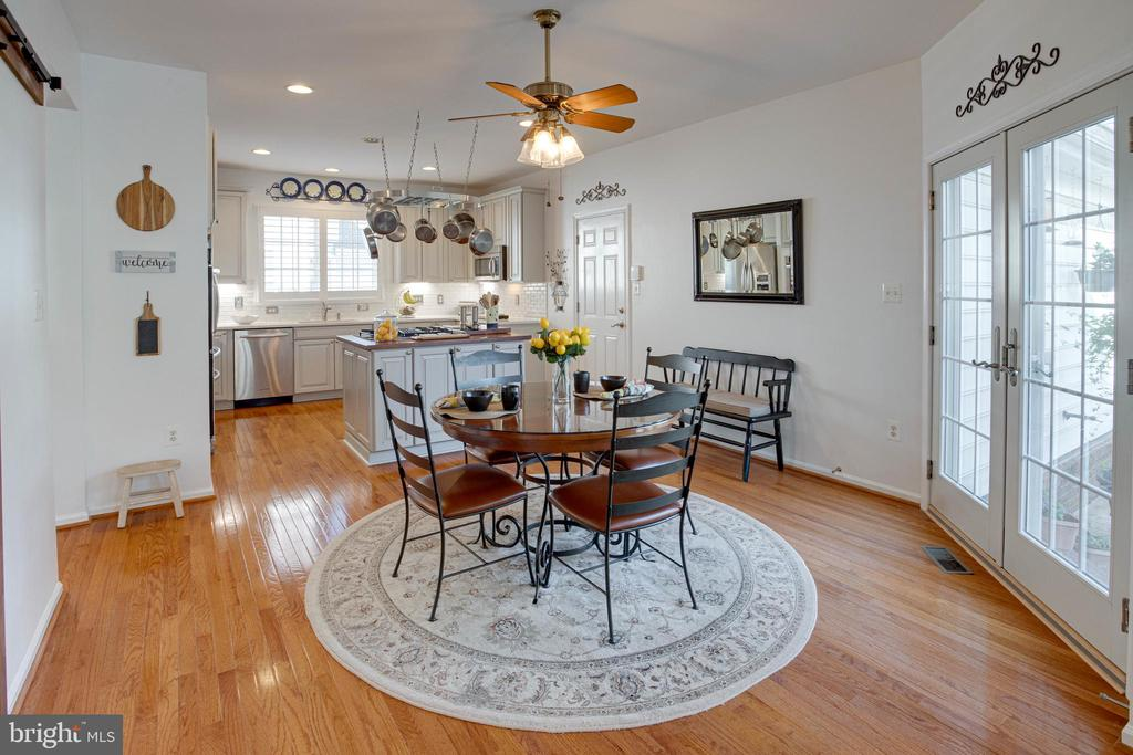 Breakfast Room with comforting view - 42624 LEGACY PARK DR, BRAMBLETON