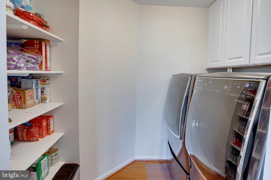 How clever to add a pantry to the landry room - 42624 LEGACY PARK DR, BRAMBLETON