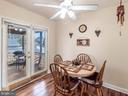 Eat in kitchen with access to screened porch - 4 BERTRAM BLVD, STAFFORD