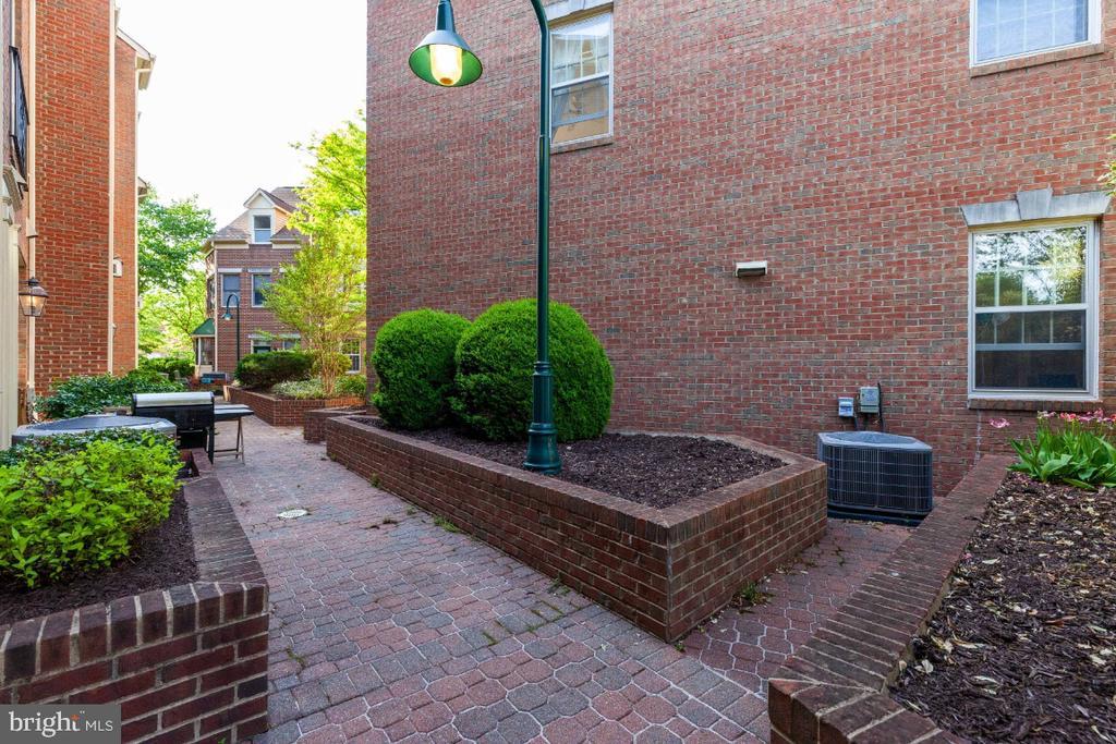 Access to common terrace area at rear of home - 2621 FAIRFAX DR, ARLINGTON