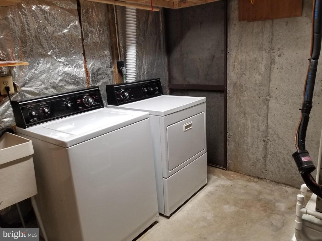 Washer & Dryer at the Lower Level Storage - 5832 CANVASBACK RD, BURKE