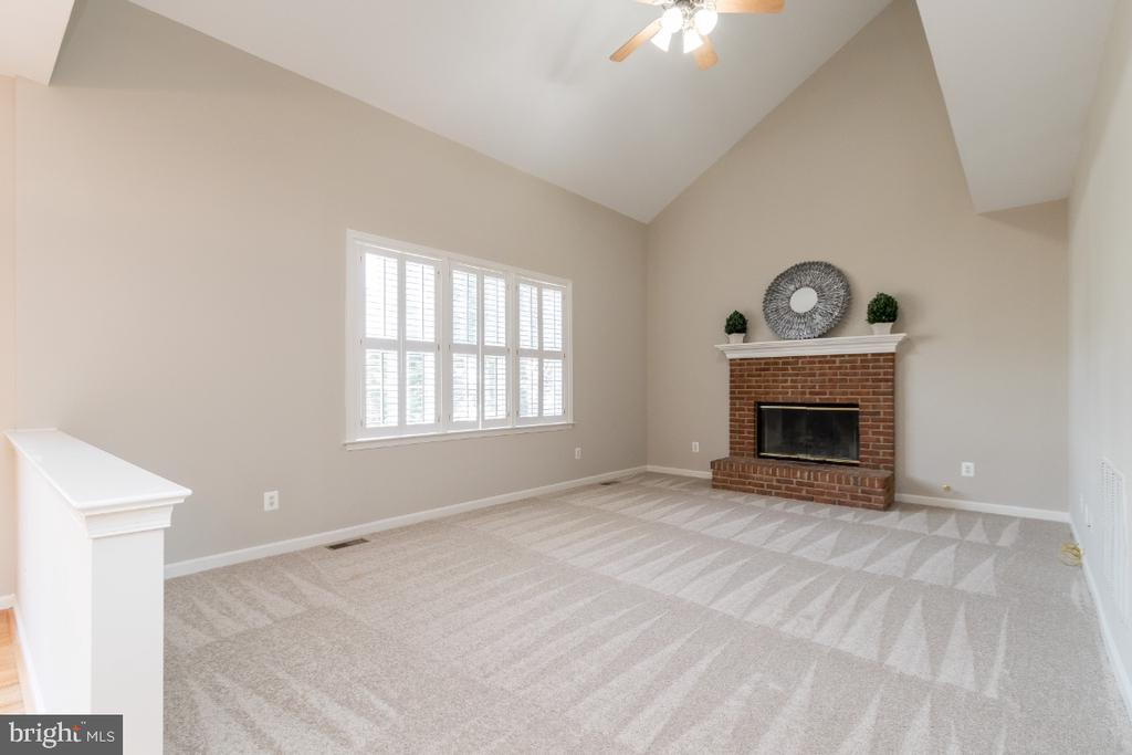 Family Room with Gas Fire Place - 25466 GIMBEL DR, CHANTILLY