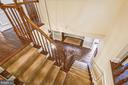 Owners installed hardwood staircase - 11949 GREY SQUIRREL LN, RESTON