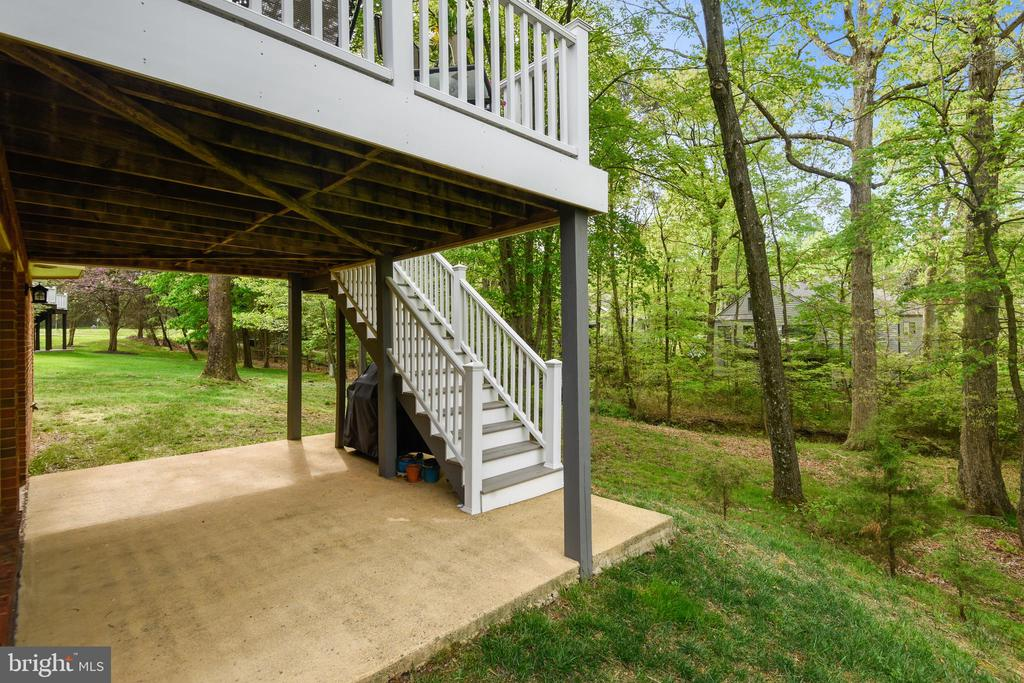 Stairs from deck to lower patio - 11949 GREY SQUIRREL LN, RESTON