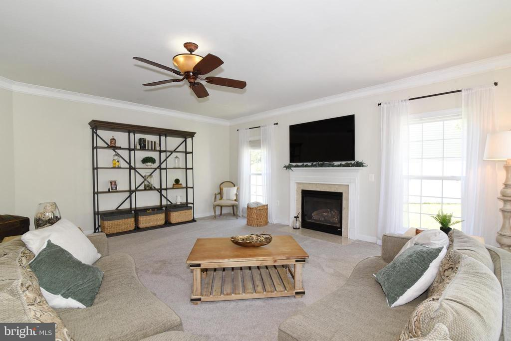 Family Room w/ Fireplace - 43298 HEATHER LEIGH CT, ASHBURN