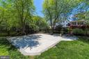 Large Slate Patio with Space for Firepit - 43690 MINK MEADOWS ST, CHANTILLY
