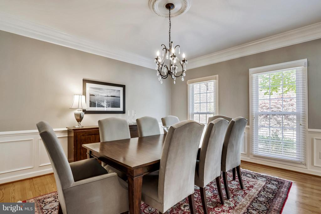Large Formal Dining Room - 43690 MINK MEADOWS ST, CHANTILLY