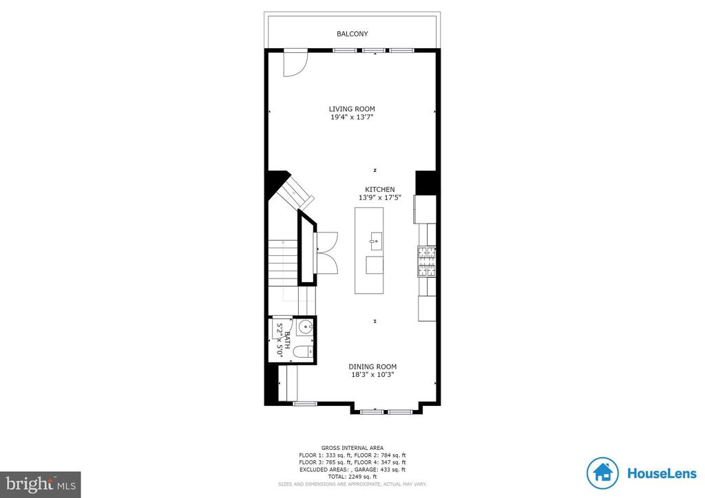 Third Level Floor Plan - 2058 ALDER LN, DUMFRIES