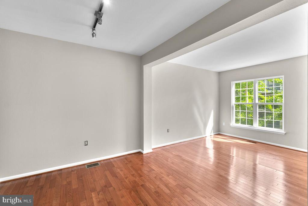 Dining area with Fresh paint throughout - 8050 NICOSH CIRCLE LN #42, FALLS CHURCH