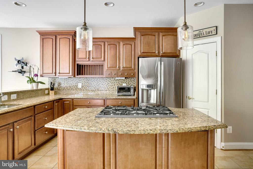 Plenty of prep and cooking space in kitchen - 43768 RIVERPOINT DR, LEESBURG