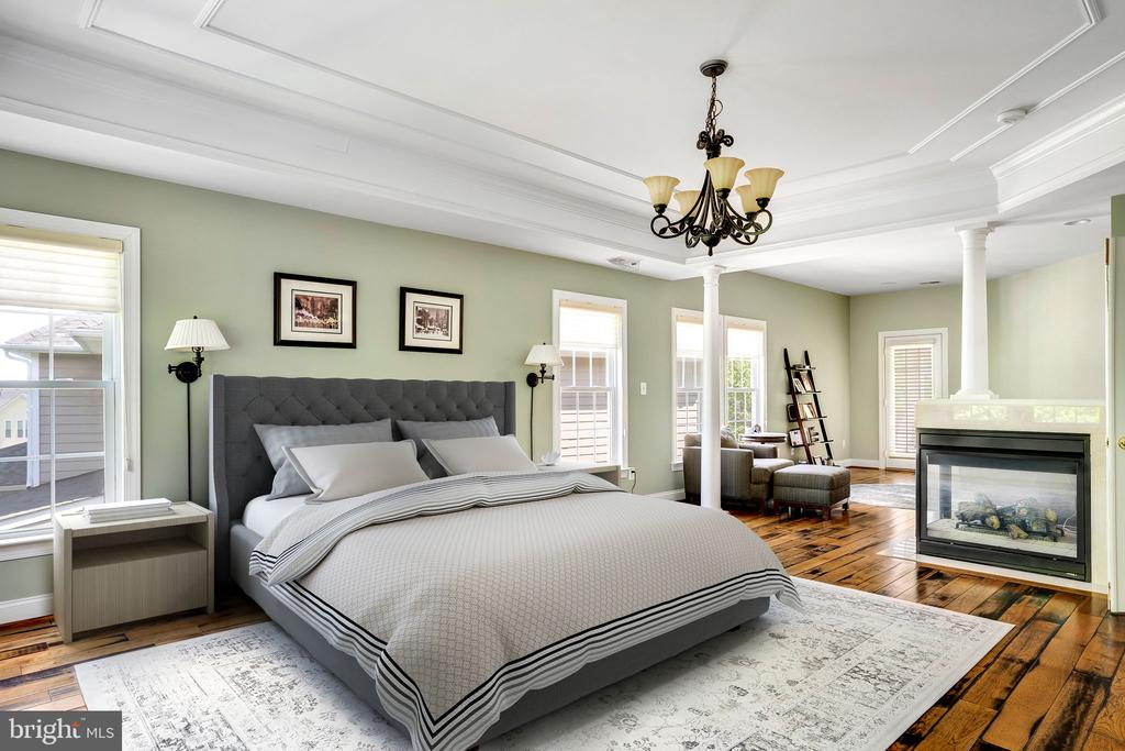 Main bedroom with fireplace and sitting room (VS) - 43768 RIVERPOINT DR, LEESBURG