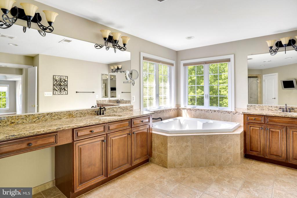 Spacious main bathroom with jetted tub - 43768 RIVERPOINT DR, LEESBURG