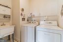 Laundry room with utility sink - 13843 CRABTREE WAY, GAINESVILLE