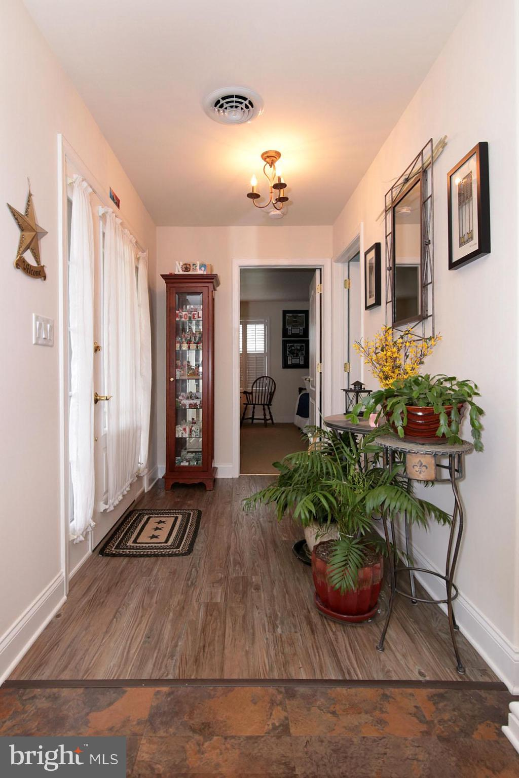 Entrance Foyer with water resistant flooring