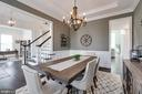tray ceiling, decorative ceiling medallion, and - 2094 TWIN SIX LN, DUMFRIES