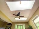 Living room sky lights - 1501 BROOKE RD, STAFFORD