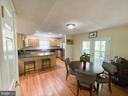 Eat in Kitchen with entrance to the deck/porch - 1501 BROOKE RD, STAFFORD