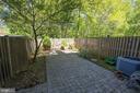 Backyard, Brick Patio, Fenced - 5605 STILLWATER CT, BURKE