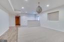 basement living room - 916 N CLEVELAND ST, ARLINGTON