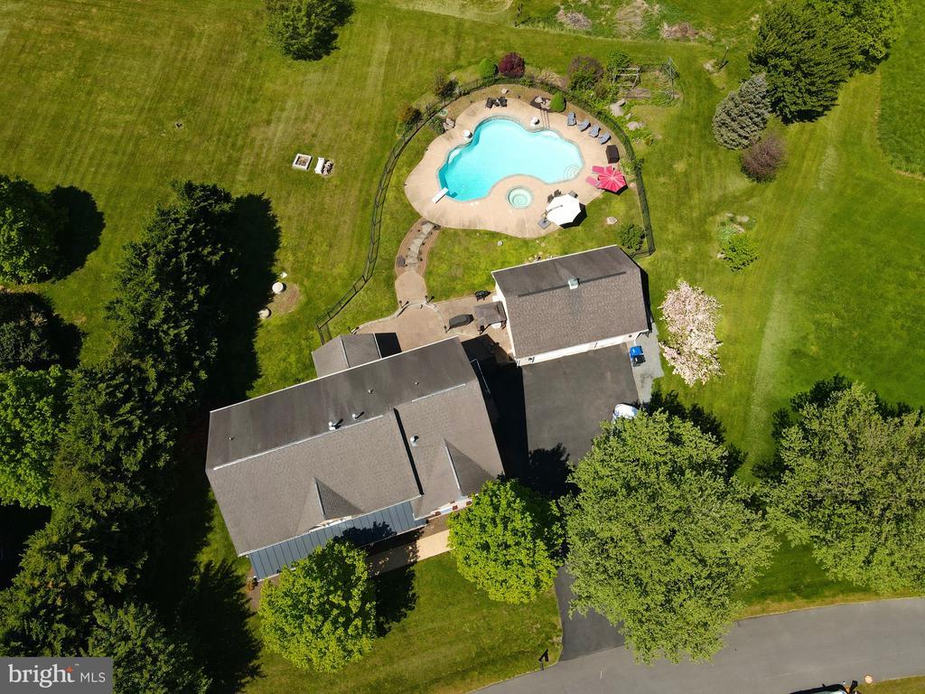 Aerial view of home - 42308 GREEN MEADOW LN, LEESBURG