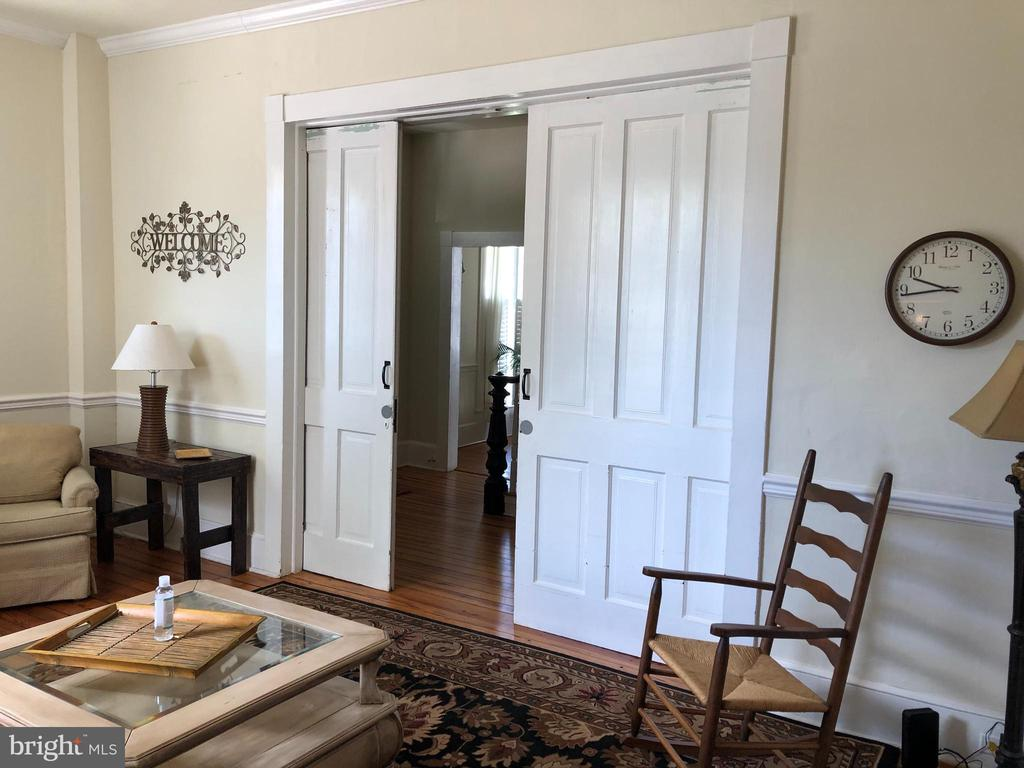 Pocket doors for privacy. - 310 AMHERST ST, WINCHESTER