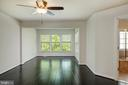 Master bedroom with ebony wood floors - 42740 OGILVIE SQ, ASHBURN