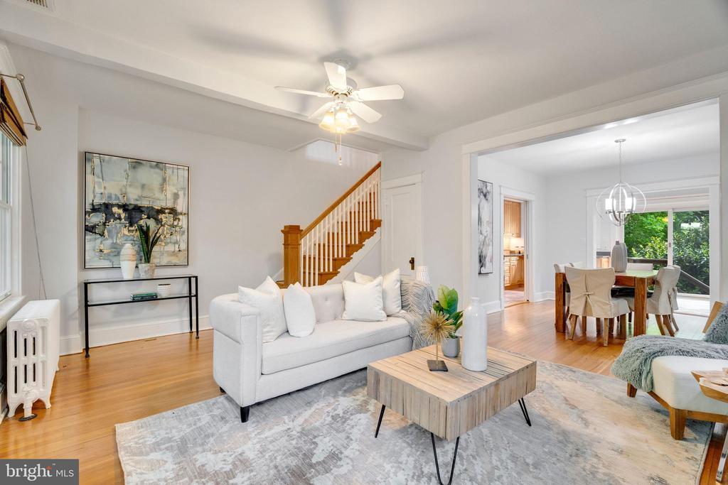 Living Room - 3605 34TH ST NW, WASHINGTON