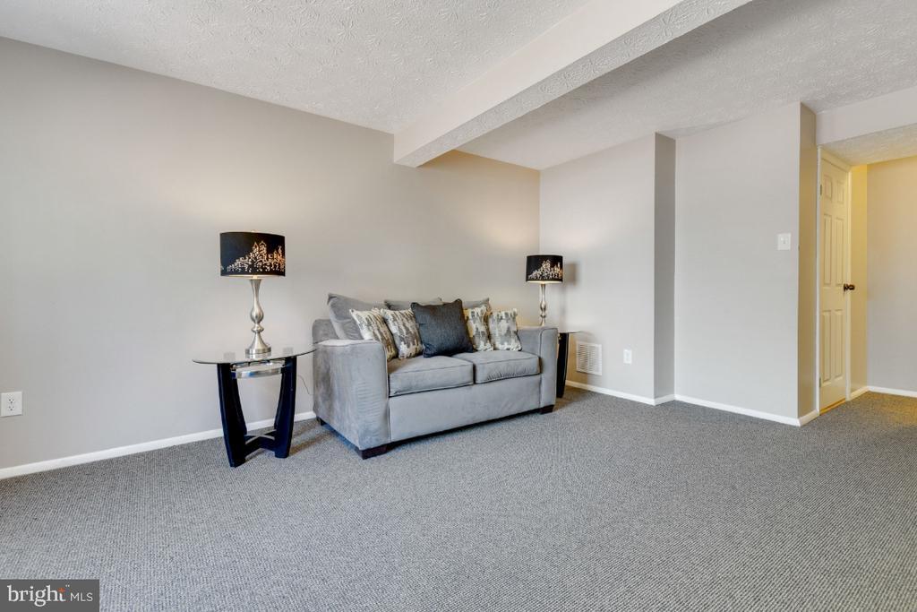 Large rec room with under-stair storage - 12110 PURPLE SAGE CT, RESTON