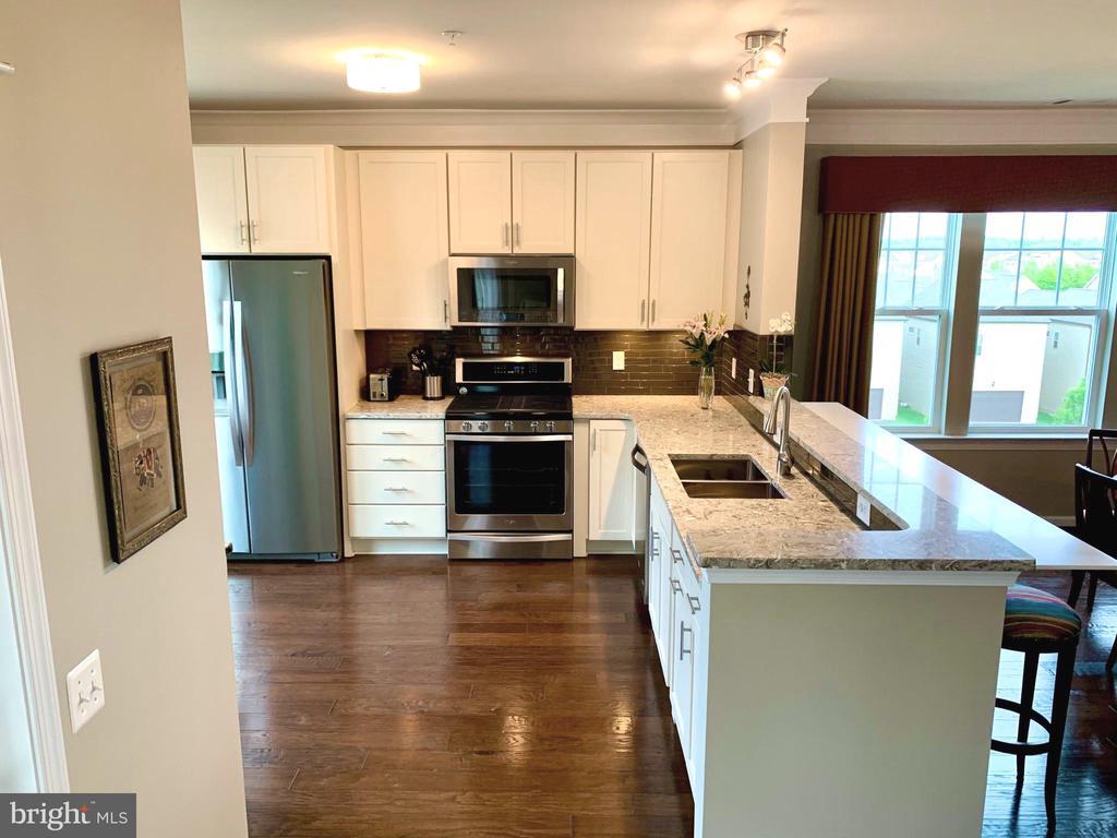 Quartz countertops and glass tiles - 20640 HOPE SPRING TER #401, ASHBURN