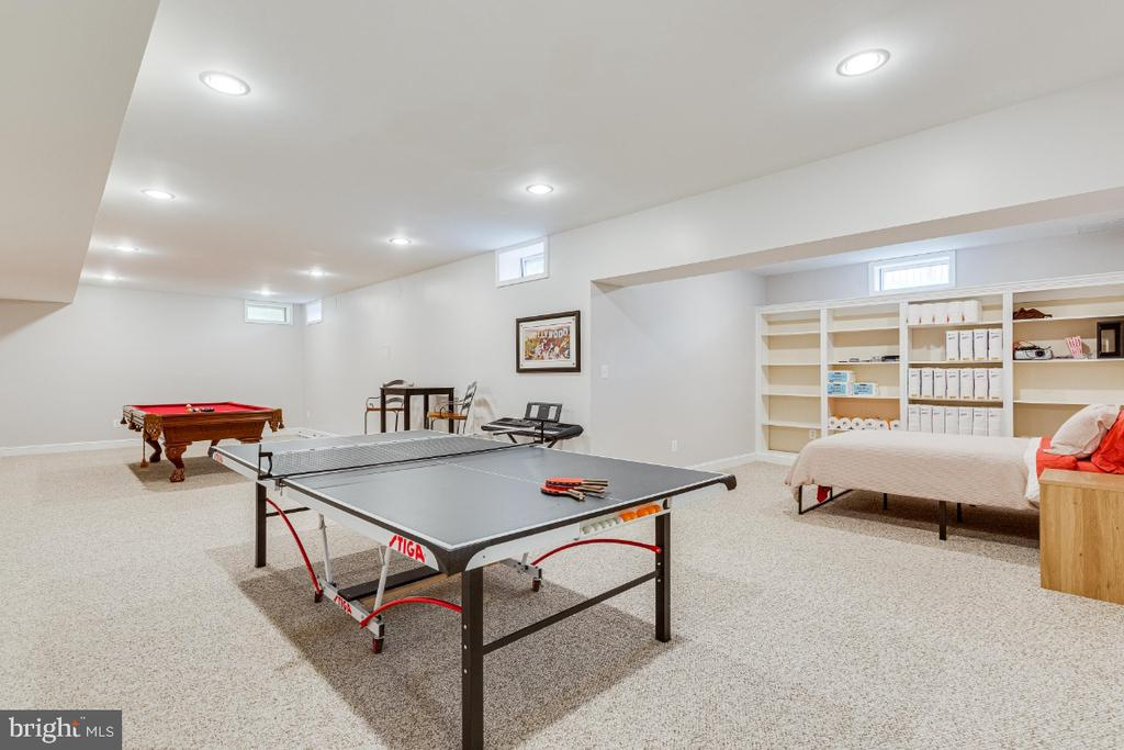 Alt view of recreation room with built in shelving - 42308 GREEN MEADOW LN, LEESBURG