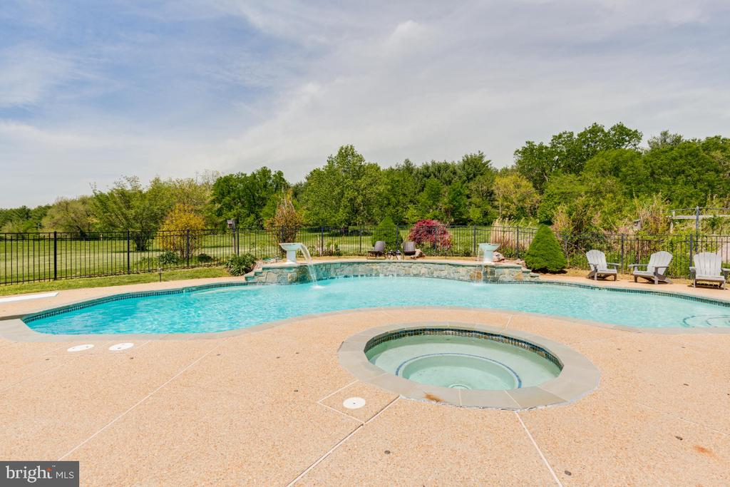 Alt view of pool with spa - 42308 GREEN MEADOW LN, LEESBURG
