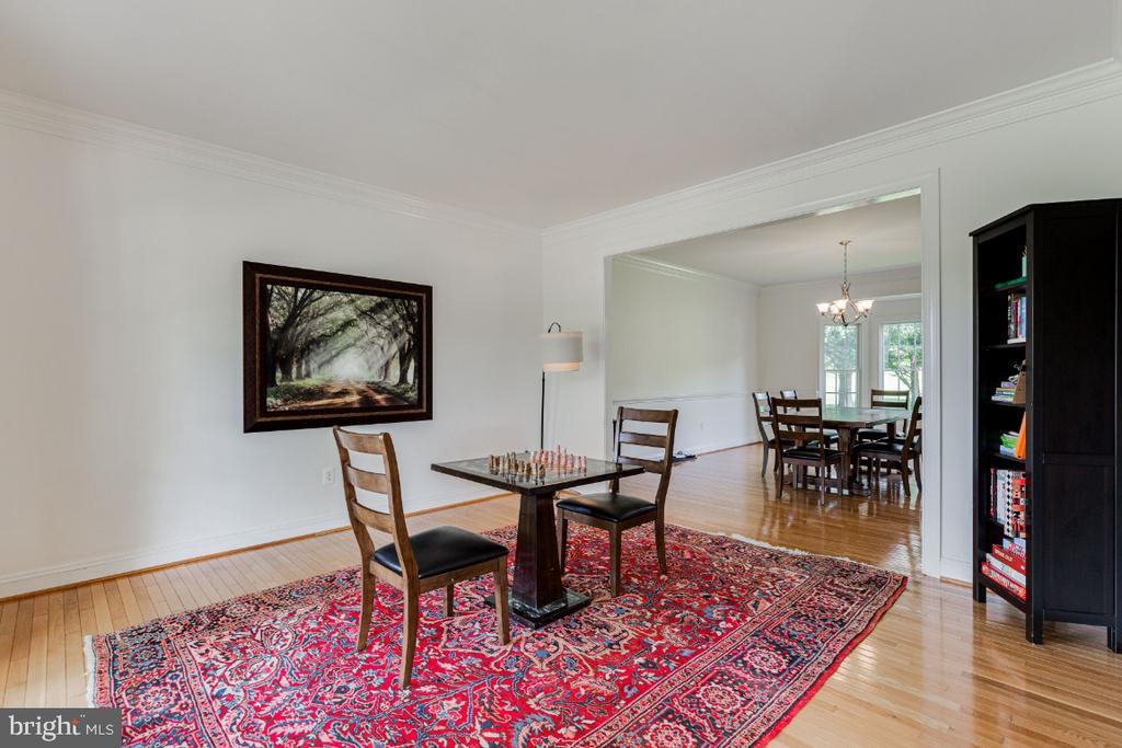 Formal living room with hardwood floors - 42308 GREEN MEADOW LN, LEESBURG