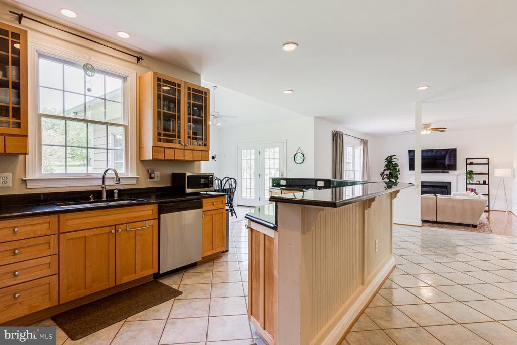 Beautiful granite counters in kitchen - 42308 GREEN MEADOW LN, LEESBURG