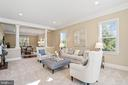 Large living room - 20585 STONE FOX CT, LEESBURG