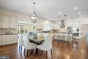 Eat-in area in kitchen - 20585 STONE FOX CT, LEESBURG