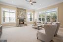 Family Room w/ gas fireplace - 20585 STONE FOX CT, LEESBURG