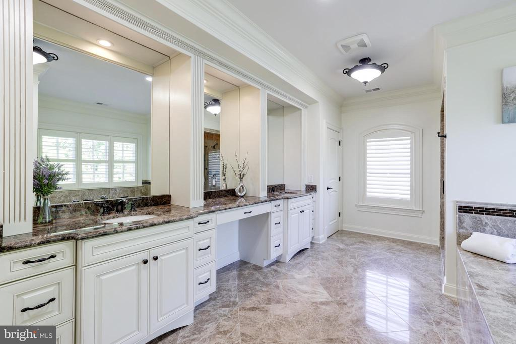 Owner's Suite Bath with Vanity Station - 957 MACKALL FARMS LN, MCLEAN