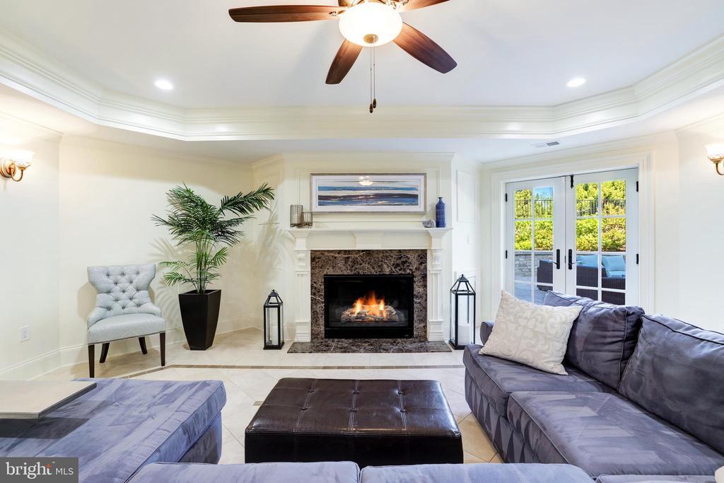 Recreation Room Lounge - Gas Fireplace - 957 MACKALL FARMS LN, MCLEAN
