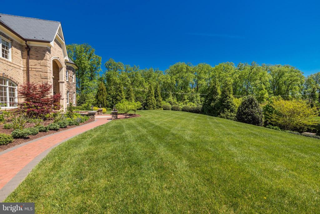 Front Lawn - Nearly 1-acre lot! - 957 MACKALL FARMS LN, MCLEAN