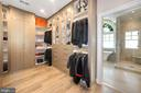 'Her' Closet with custom built-ins - 7301 DULANY DR, MCLEAN