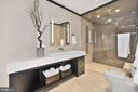 'His' Bathroom with Steam Shower - 7301 DULANY DR, MCLEAN
