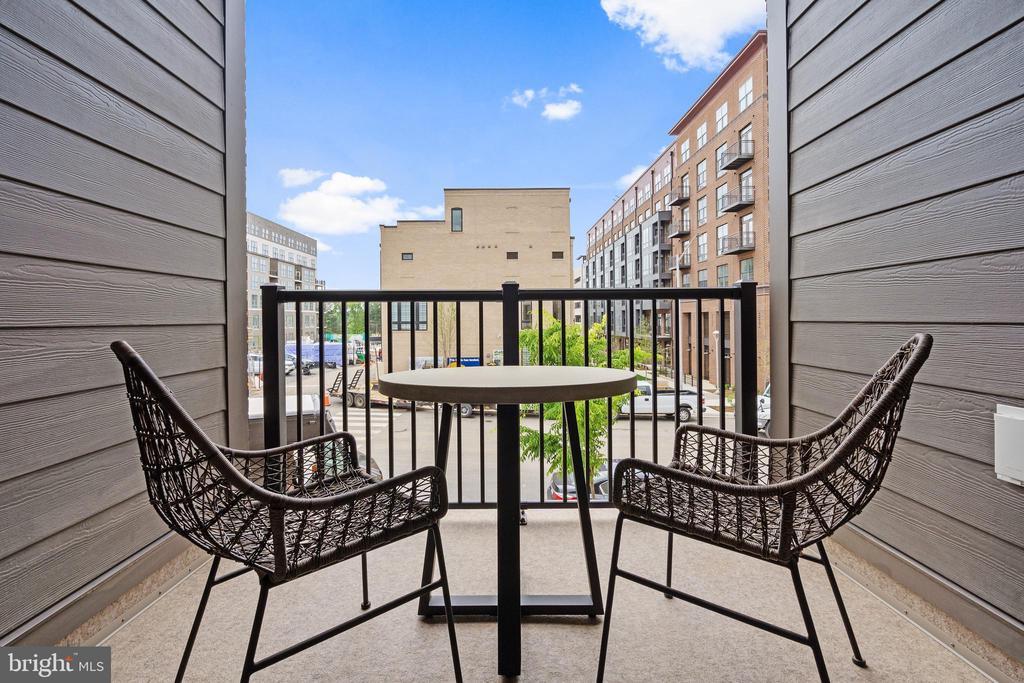 Balcony off of the kitchen - 11200 RESTON STATION BLVD #301, RESTON