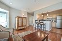 Beautiful living room with gleaming hardwood floor - 20303 BEECHWOOD TER #303, ASHBURN