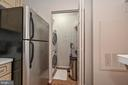 Laundry room with Bosch washer and dryer - 20303 BEECHWOOD TER #303, ASHBURN